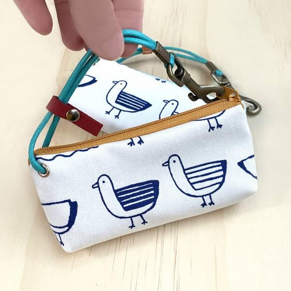 拉鍊鑰匙包 (鴿白呢) 日本布 接單生產* 鑰匙包,keyholder,鑰匙收納,キーケース,kyecase,隨身小包,客製化