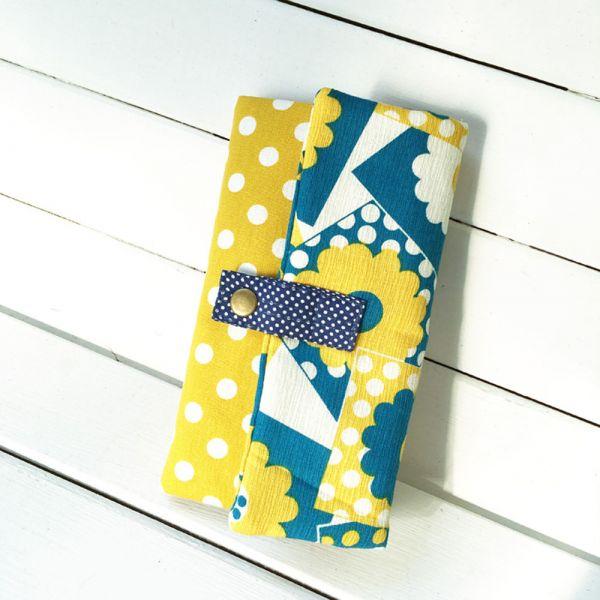 多功能長夾 (風和日麗 - 黃) 日布 接單生產* 錢包,wallet,coinpurse,財布,財布ブランド