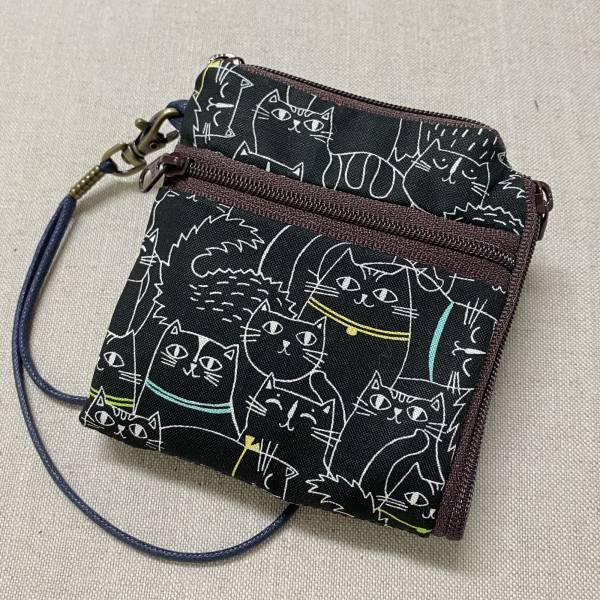 夾心短夾 (夜貓子) (附繩) 接單生產* Wallet,カード,お釣り入れ,小銭入れ,細かい入れ,二つ折り財布,卡片包,夾心吐司包,財布,錢包,錢夾
