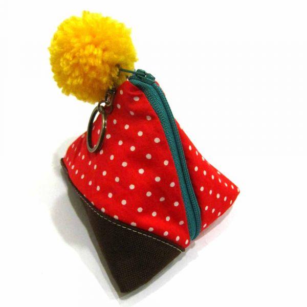 包粽包 (紅色點點) 小零錢包,錢包,零錢包,小包,三角包,粽子,包粽,粽,ちまき,zongzi,ricedumpling