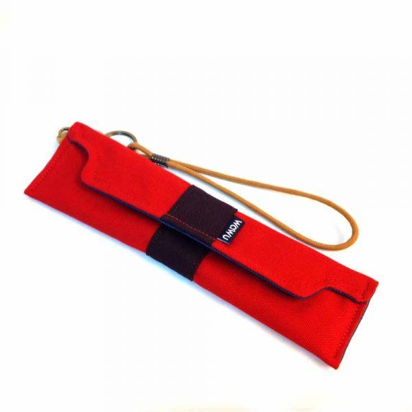 筆袋/筷套 (紅色帆布) (附木製筷子和湯匙) 接單生產* 筆袋,餐具袋,,chopsticks,箸,箸袋