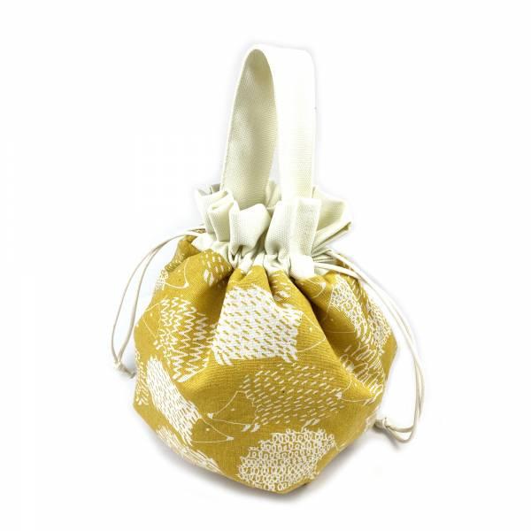 巾着袋, 束口手提袋 (刺蝟 - 黃) *接單生產 便當袋,lunchbag,束口袋,巾着袋,drawstring