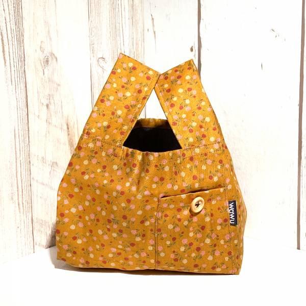 半斤購物袋 (金黃小花/雙面布) 日布限量訂製款* 半斤袋,環保袋,購物袋, ShoppingBag, エコバッグ