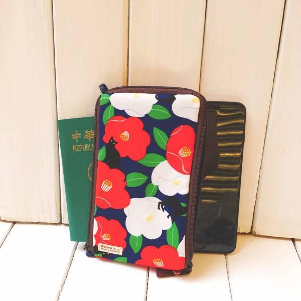多功手機包 Plus & Max (朵朵貓 - 琉璃紺色) 接單生產* 手機袋,phonebag,携帯カバー,手機包,隨身小包,手工包,包包,Purses,かばん,カバン,鞄,手作包,布包 ,handmadebag,バッグ,ポーチ,布小物,布小物雑貨
