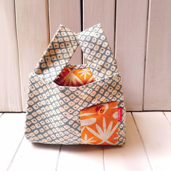 半斤購物袋 (勿忘草/雙面布) 日布限量訂製款* 半斤袋,環保袋,購物袋, ShoppingBag, エコバッグ