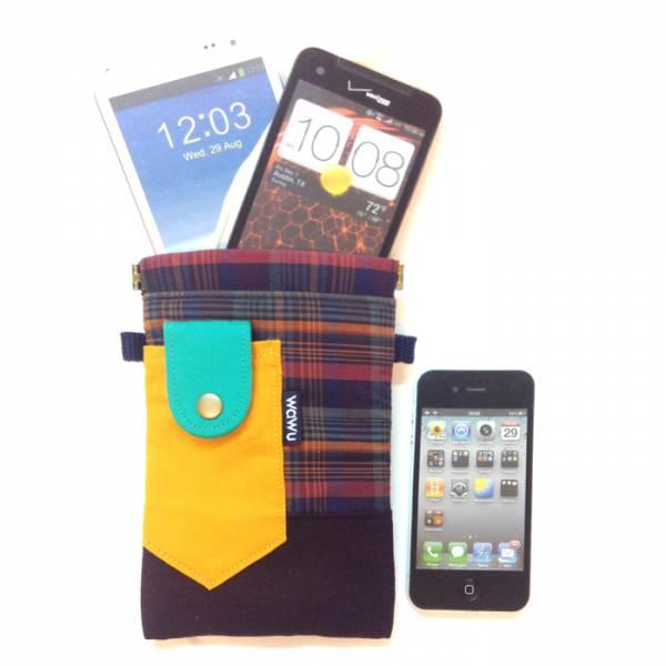 褲頭包 (彩格) 手機袋,phonebag,携帯カバー,手機包,隨身小包,手工包,包包,Purses,かばん,カバン,鞄,手作包,布包 ,handmadebag,バッグ,ポーチ,布小物,布小物雑貨