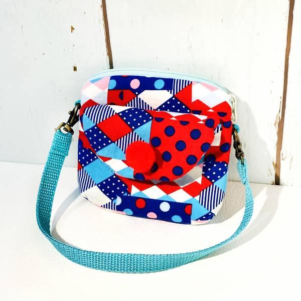 手腕方便包 (幾何藍) (附繩) 接單生產* Wallet,カード,お釣り入れ,小銭入れ,細かい入れ,二つ折り財布,卡片包,財布,錢包,錢夾