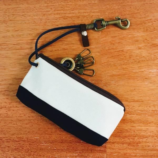 拉鍊鑰匙包 (帆布搭配客訂花色) 接單生產* 鑰匙包,keyholder,鑰匙收納,キーケース,kyecase,隨身小包,客製化