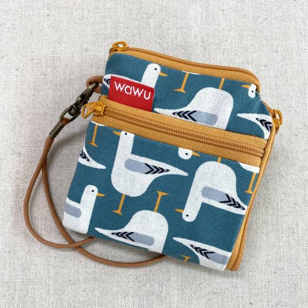 夾心短夾 (鴿兒們) (附繩) 接單生產* Wallet,カード,お釣り入れ,小銭入れ,細かい入れ,二つ折り財布,卡片包,夾心吐司包,財布,錢包,錢夾