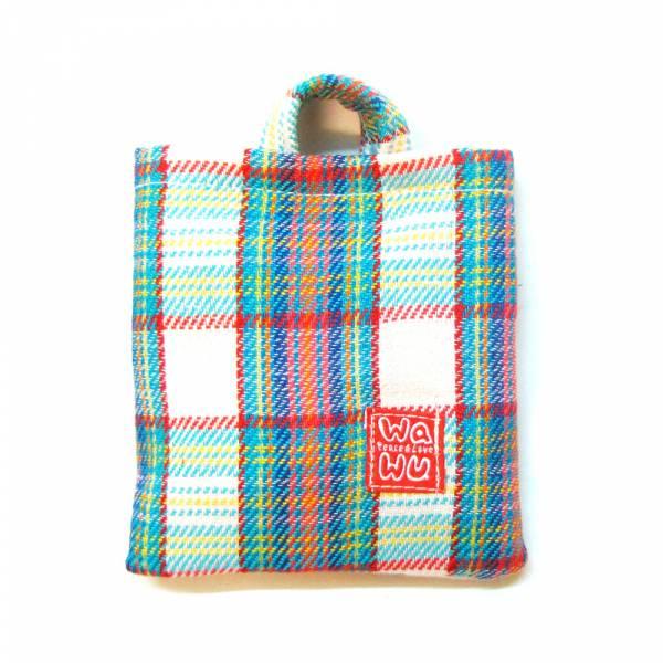 棉棉包 (織物彩格) 訂製款* 收納包,隨身電源袋,耳機線材收納袋