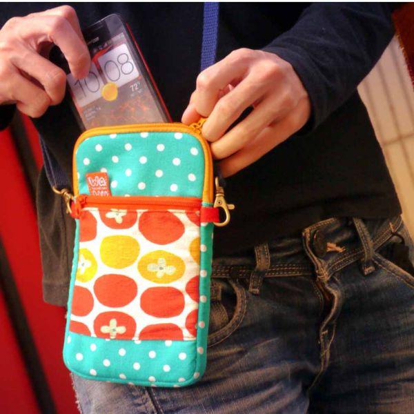 拉鍊手機包 Plus 款 (午後番茄) 手機袋,phonebag,携帯カバー,手機包