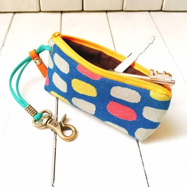 拉鍊鑰匙包 (琉璃丸) 日本布 接單生產* 鑰匙包,keyholder,鑰匙收納,キーケース,kyecase,隨身小包,客製化