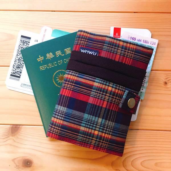 護照套+扣帶 (彩格)  接單生產* 護照套,passportcase,パスポートケース