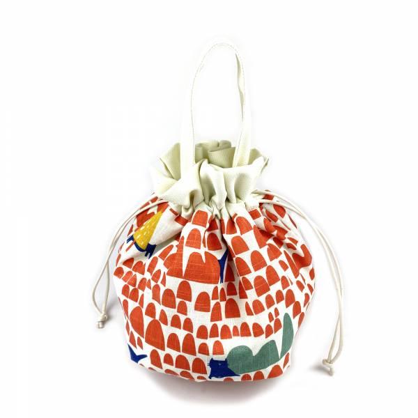巾着袋, 束口手提袋 (貓貓森林 - 紅) *接單生產 便當袋,lunchbag,束口袋,巾着袋,drawstring
