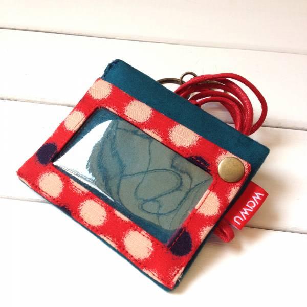 三用證件零錢套 (紅豆) 日布 接單生產* 證件套,識別證套,卡套,ID卡套,悠遊卡套,證件零錢套