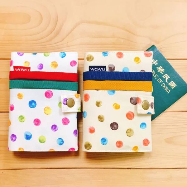 護照套+扣帶 (彩點 / 一對)  接單生產* 護照套,passportcase,パスポートケース