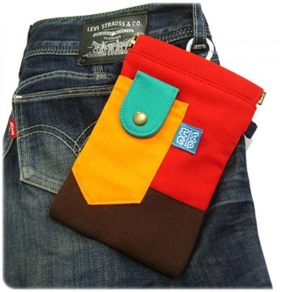褲頭包 (辣椒紅) 手機袋,phonebag,携帯カバー,手機包,隨身小包,手工包,包包,Purses,かばん,カバン,鞄,手作包,布包 ,handmadebag,バッグ,ポーチ,布小物,布小物雑貨