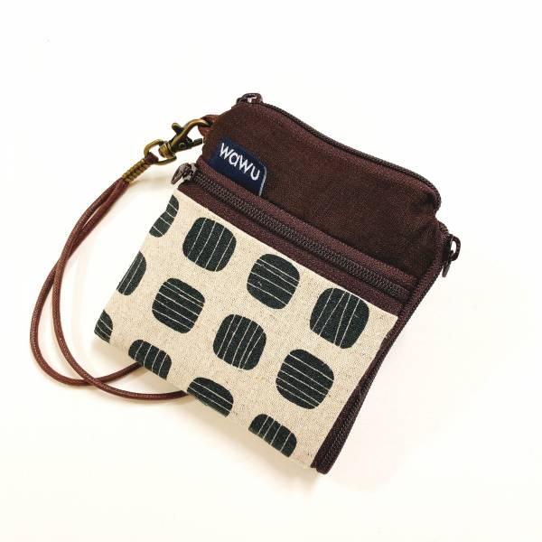 夾心短夾 (黑豆) (附繩) 接單生產* Wallet,カード,お釣り入れ,小銭入れ,細かい入れ,二つ折り財布,卡片包,夾心吐司包,財布,錢包,錢夾
