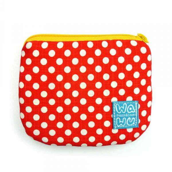 小零錢包 (紅色點點) 接單生產* 小零錢包,隨身小包,錢包,零錢包,小包,專屬名字錢包,卡片包