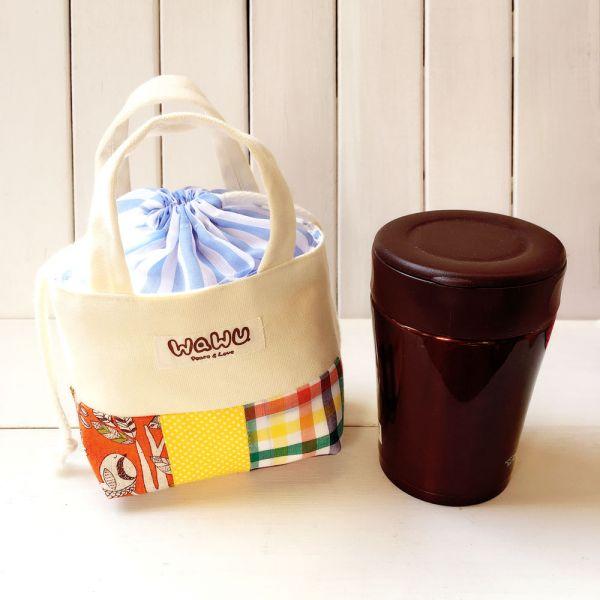 隨身杯袋 0.35L (森林野餐-隨身杯袋 0.35L (森林野餐-橘) 接單生產*) 接單生產* 手提包,束口袋,隨身杯袋,保溫杯袋,悶燒杯袋