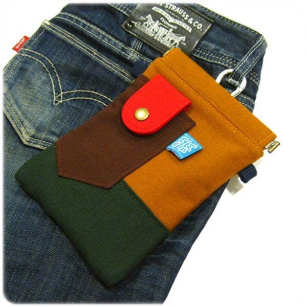 褲頭包 (土地黃) 手機袋,phonebag,携帯カバー,手機包,隨身小包,手工包,包包,Purses,かばん,カバン,鞄,手作包,布包 ,handmadebag,バッグ,ポーチ,布小物,布小物雑貨