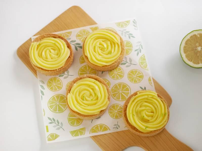 玫瑰花花檸檬小塔 玫瑰檸檬塔,檸檬塔,宅配甜點