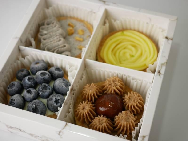 秋意期間限定小塔組合 玫瑰芒果塔,芒果塔,宅配甜點,芒果,檸檬塔,藍莓塔