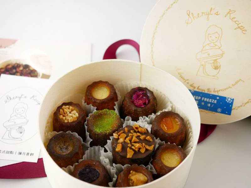 圓盒迷你可麗露 可麗露,法式甜點,手作甜點,宅配甜點