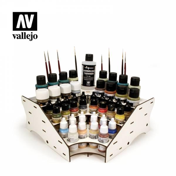 西班牙 Vallejo AV水性漆 26008 顏料放置架 漆架 <轉角型>