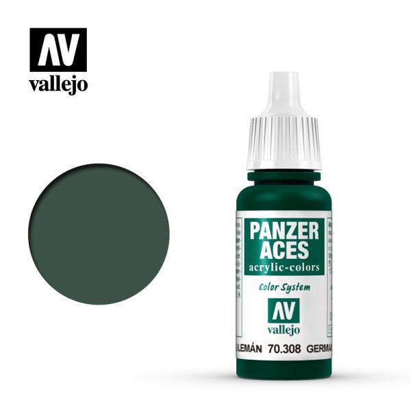 Acrylicos Vallejo - 70308 - 裝甲王牌 Panzer Aces - 綠尾燈色 Green Tail Light - 17 ml