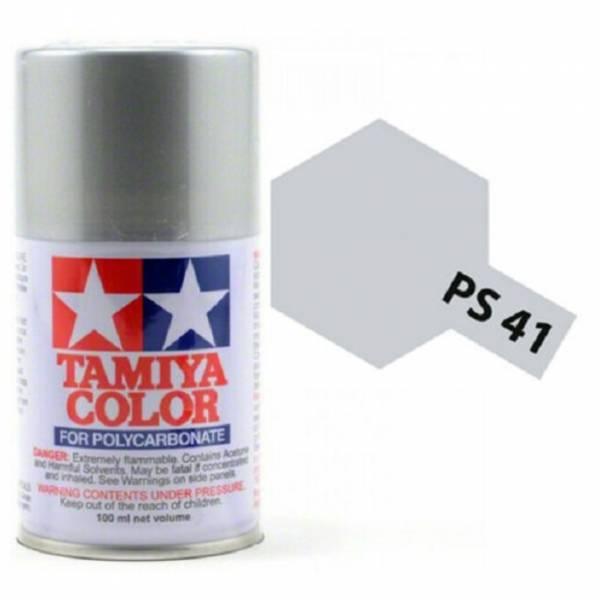 田宮 TAMIYA  PS-41 亮銀色 噴罐 (新配方 耐撞擊、高延展性 ) <硝基漆/100ml>