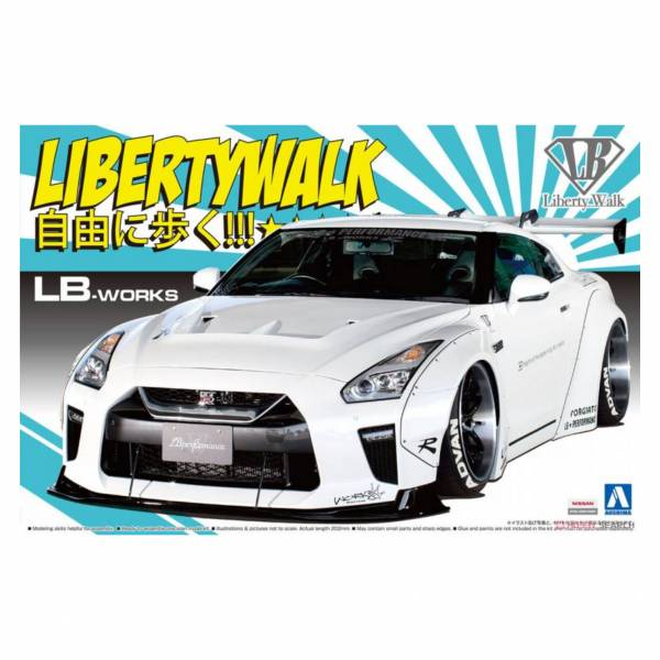 青島社 AOSHIMA 1/24  Liberty Walk NO.11 LB Works R35 GT-R type1.5 組裝模型