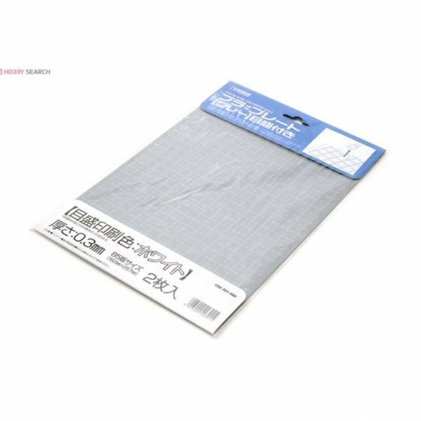 wave OM-301 塑膠白線刻度改造版 灰色 B5大小 厚度0.3mm <2枚入>