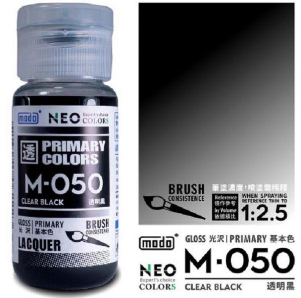 摩多製漆所 MODO M-050 透明黑 筆塗用濃度 30ml <新配方新包裝>