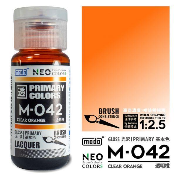 摩多製漆所 MODO M-042 透明橙 筆塗用濃度 30ml <新配方新包裝>
