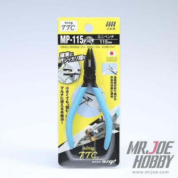 日本角田 KING TTC MP-115 迷你老虎鉗 鋼絲鉗 可剪2mm銅棒 <日本製造>