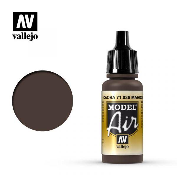 西班牙 Vallejo AV水性漆 Model Air 71036 桃花心木色 17ml