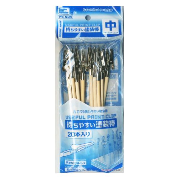 HOBBY BASE PPC-Nn09 模型上色專用 竹籤夾 中 20入 <新包裝>