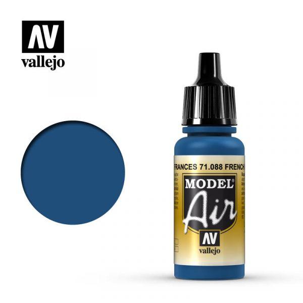 西班牙 Vallejo AV水性漆 Model Air 71088 法國藍色 17ml