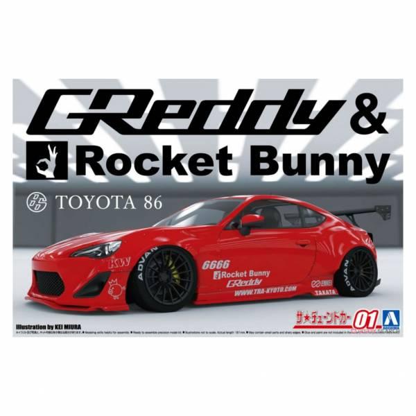 青島社 AOSHIMA 1/24 汽車模型 改裝車 No.01 061862 86'12 Greddy&Rocket Bunny ENKEI 組裝模型 AOSHIMA 1/24 閃電霹靂車 阿斯拉 AKF-0/G LIFTING TURN模式