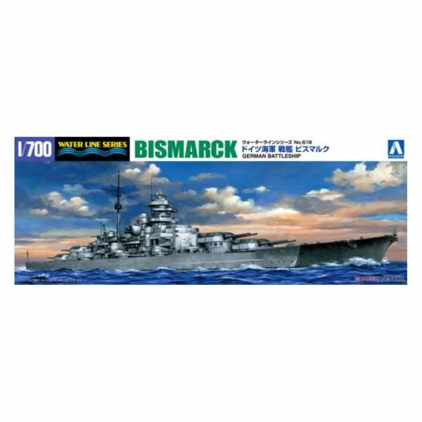 青島社 AOSHIMA #042595 1/700 WL#618 德國海軍 戰艦 俾斯麥 組裝模型