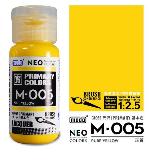 摩多製漆所 MODO M-005 正黃 筆塗用濃度 30ml <新配方新包裝>