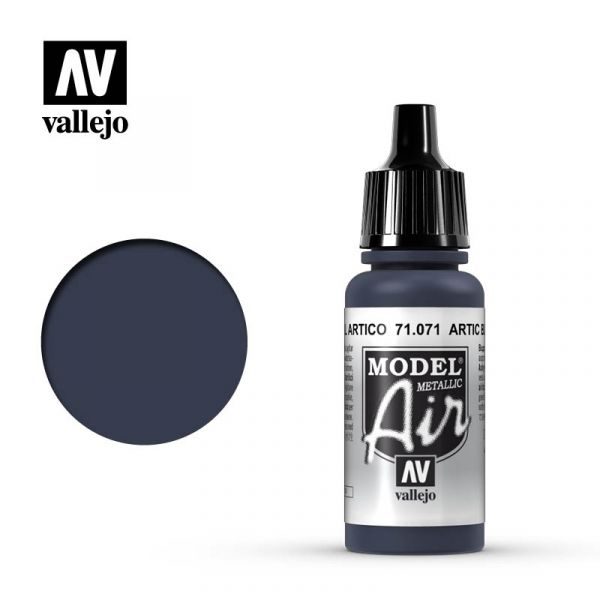 西班牙 Vallejo AV水性漆 Model Air 71071 - 北極藍(金屬色)Artic Blue 17ml