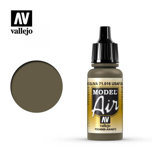 西班牙 Vallejo AV水性漆 Model Air 71016 美國空軍橄欖褐色 17ml