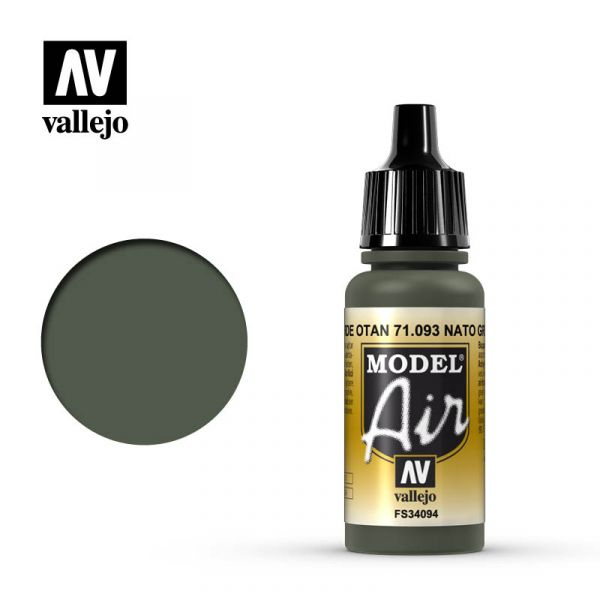 西班牙 Vallejo AV水性漆 Model Air 71093 北約綠色 17ml