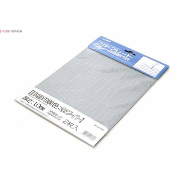 wave OM-303 塑膠白線刻度改造版 灰色 B5大小 厚度1.0mm <2枚入>