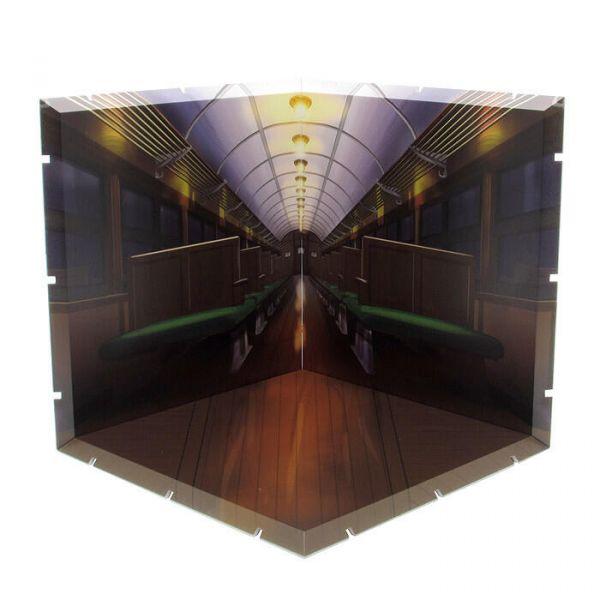 代理版 PLM Dioramansion150 洋館廢墟火車內 <黏土人展示用背景>