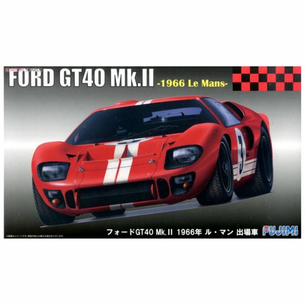 富士美 FUJIMI 1/24 汽車模型 RS-51 126067 Ford GT40 1966 LeMans 出場車 組裝模型