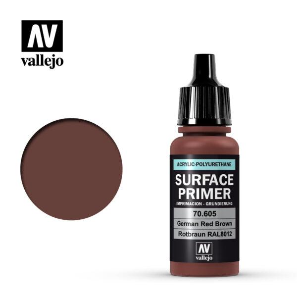 Vallejo AV水性漆 SURFACE PRIMER 70605 德國紅棕色 17ml