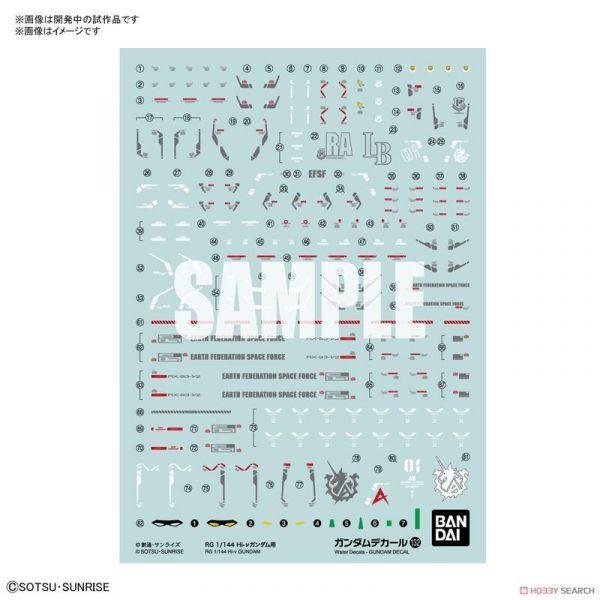 預購12月 萬代 BANDAI 鋼彈水貼紙 No.132 RG 1/144 Hi-ν鋼彈用